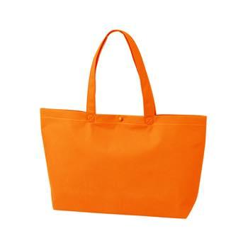 カジュアルトート A4横のオレンジ プラホック:白