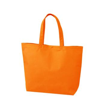 カジュアルトート 小のオレンジ プラホック:白