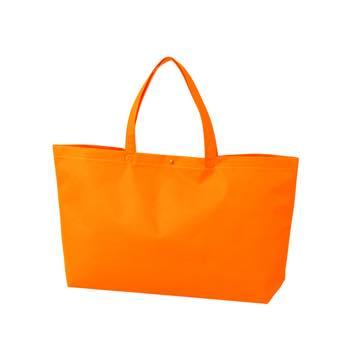 カジュアルトート 中横のオレンジ プラホック:白