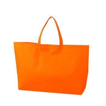 カジュアルトート 大のオレンジ プラホック:白