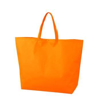カジュアルトート 特大のオレンジ プラホック:白