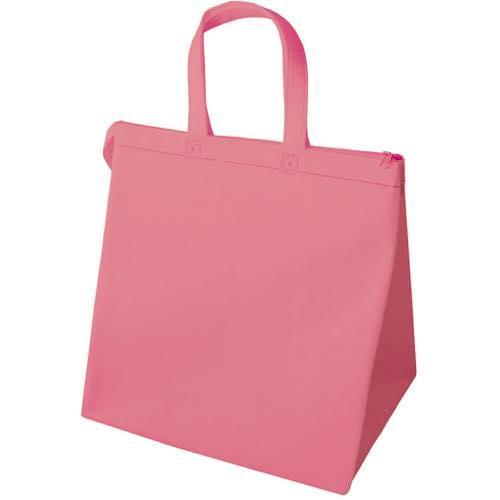 保冷バッグ カラークールベーシック 中のピンク