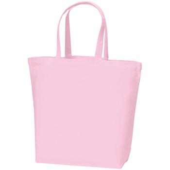 キャンバストート(L)のピンク