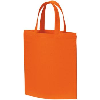 A4コットンバッグのオレンジ
