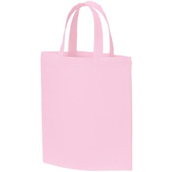 A4コットンバッグのピンク